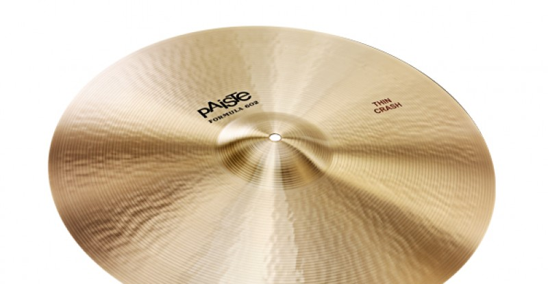 Paiste Formula 602 Classic Sounds Thin Crash 16″ 17″ 18″ 19″ 20″ 22″